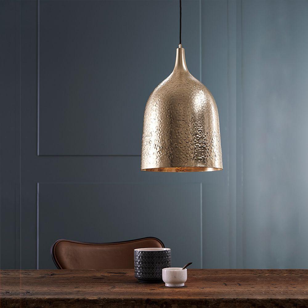 Pendente Lustre design alumínio dourado