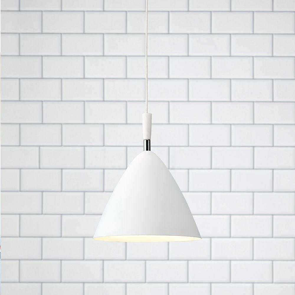 Pendente lustre design classic metal branco