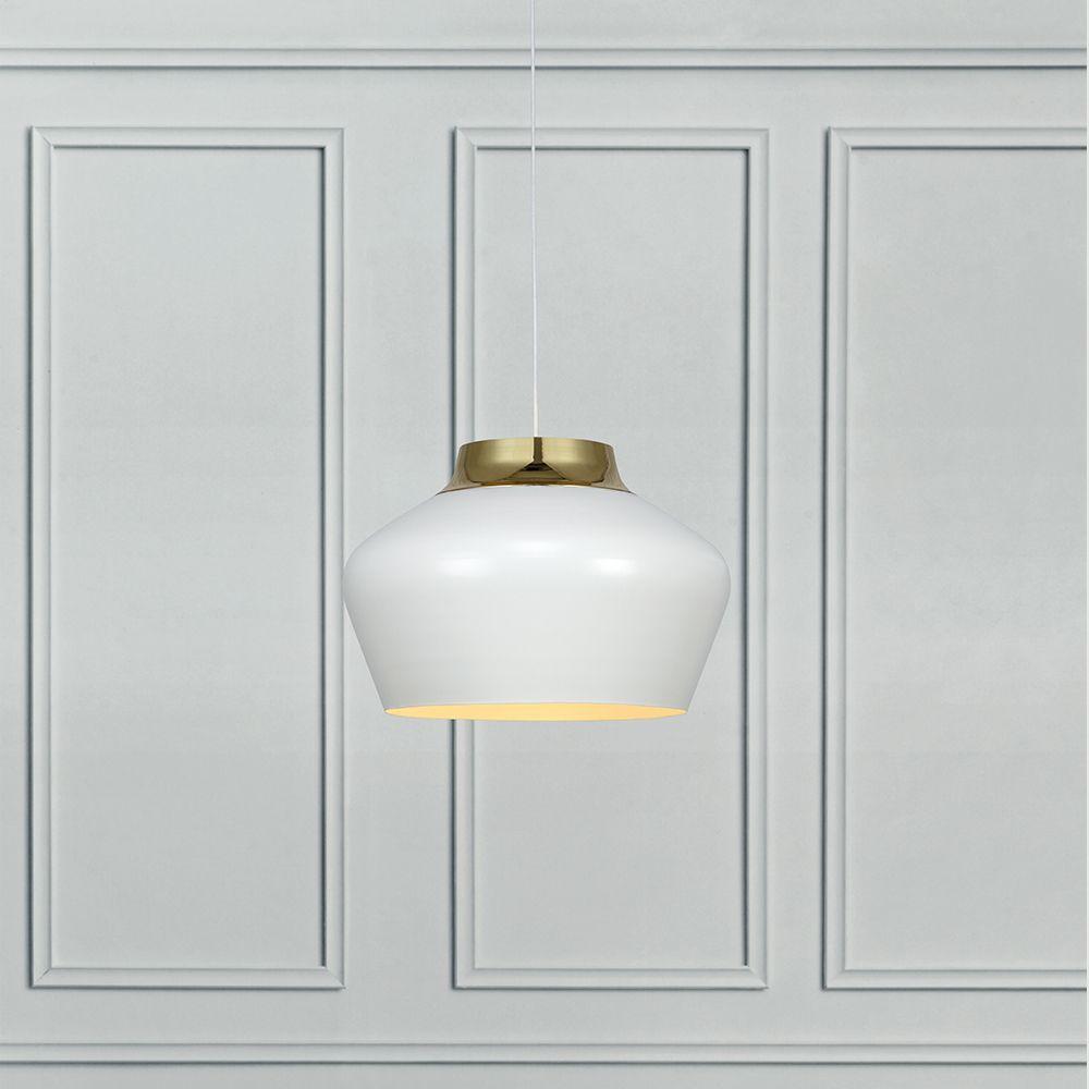 Pendente Lustre para sala dourado e metal branco