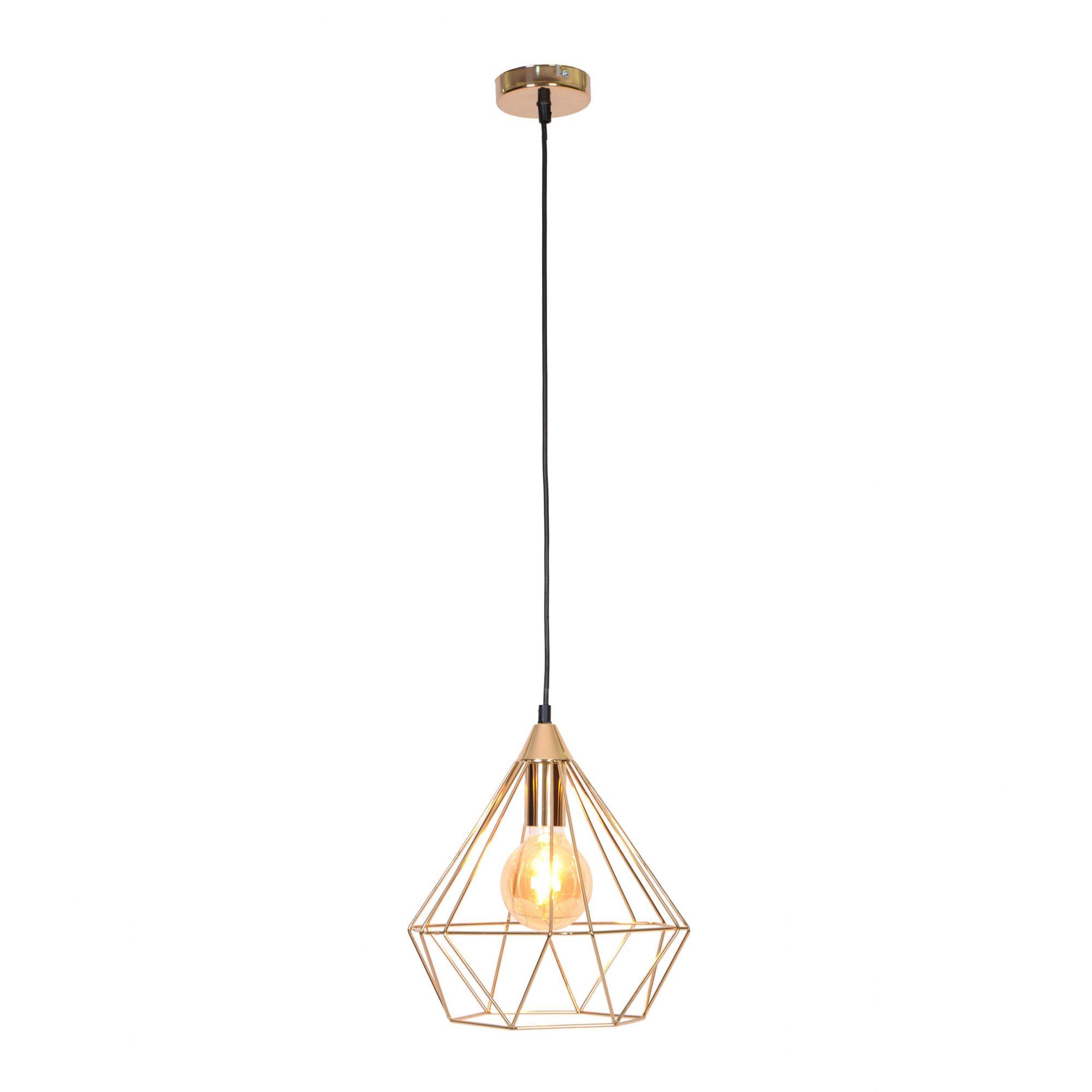 Pendente lustre retro charme para cozinha 132x30x30, metal dourado