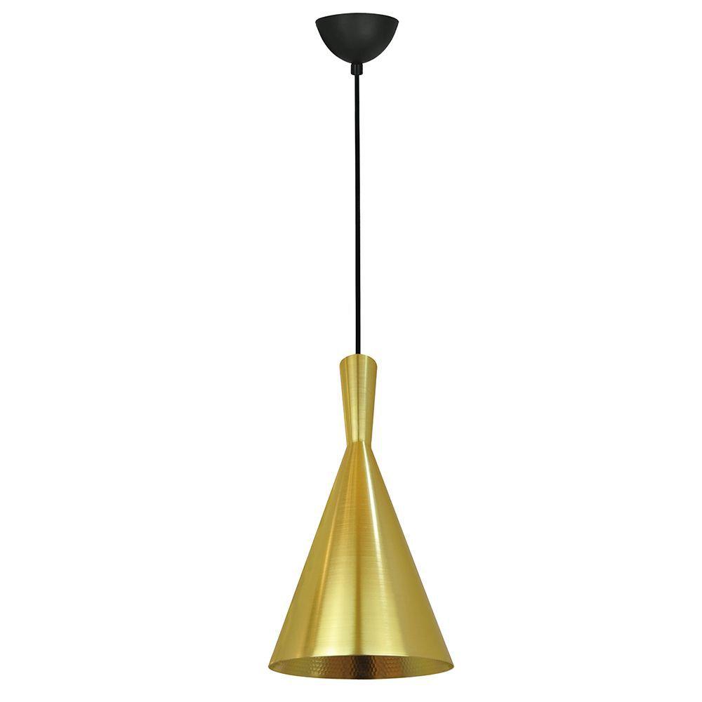 Pendente para mesa 110x19x19 alumínio dourado