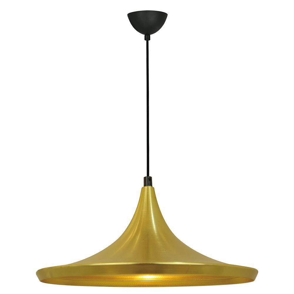 Pendente para mesa 110x36x18 alumínio dourado