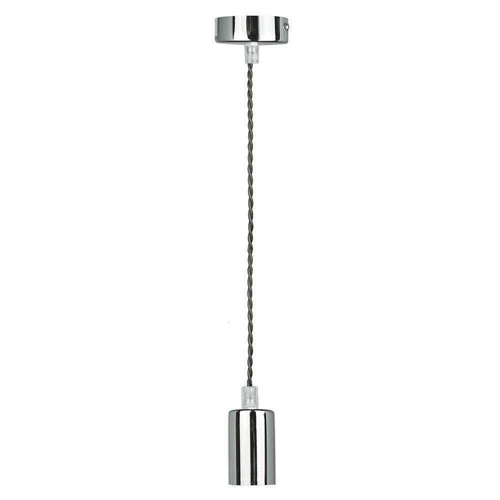 Pendente soquete Luminaria para bancada 168cm metal cromado