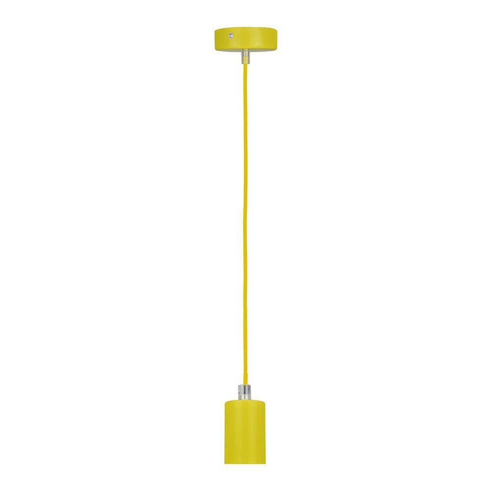 Pendente soquete retro para mesa 155cm metal amarelo