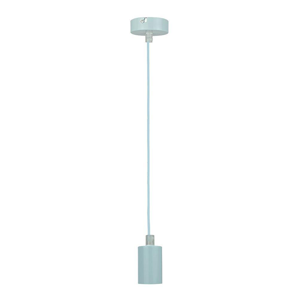 Pendente soquete retro para mesa 155cm metal azul claro