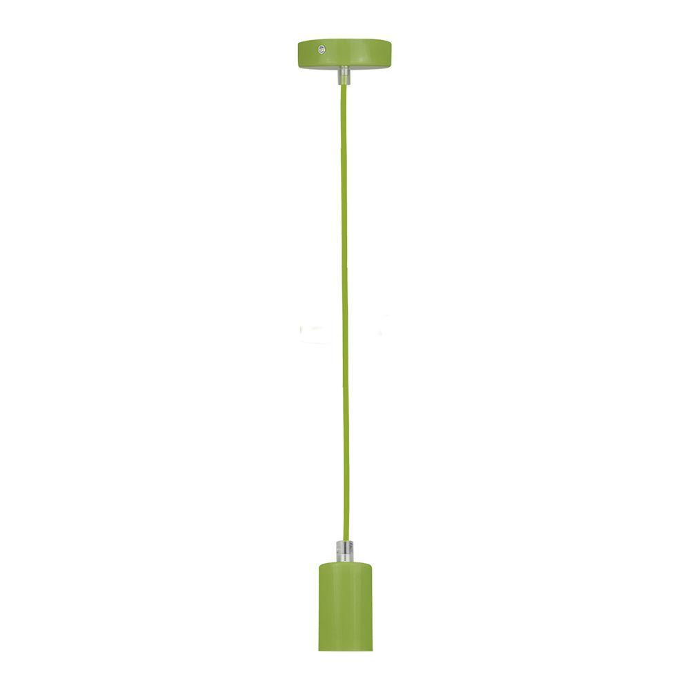 Pendente soquete retro para mesa 155cm metal verde