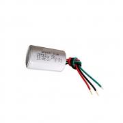 Capacitor com 3 Fios Metalizados 4UF/6UF 250VAC Velti Delta