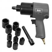 Chave de Impacto Pneumática 1/2 Pol. c/ Kit Soquetes 9GE Eda