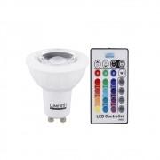 Dicroica RGB 3,5W com Controle Remoto Bivolt LM713 Luminatti