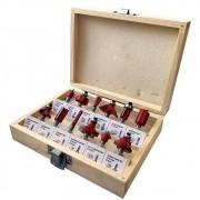 Jogo de Fresas para Tupia Madeira 6mm com 12 Peças Charbs