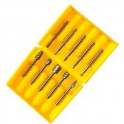 Kit 10 Fresas Escariadoras para Micro Retíficas HSS Charbs
