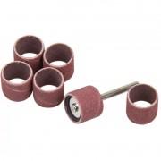 Kit 6 Tubos de Lixa e Suporte para Micro Retíficas WS370011 Black Jack