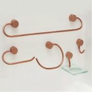 Kit Acessórios Class Rose Gold Redondo 5 Peças Steel Design