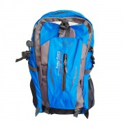 Mochila Nylon 35L Impermeável Hiking Azul e Cinza Charbs