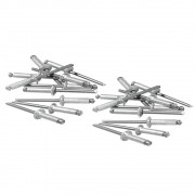 Rebites de Alumínio com Repuxo 4.0 X 14MM 50 Peças 406439 MTX