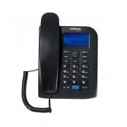 Telefone Fixo Preto com Display Luminoso Toc 60 ID Intelbras
