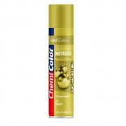 Tinta Spray Metálica para Uso Interno Ouro 400ml ChemiColor