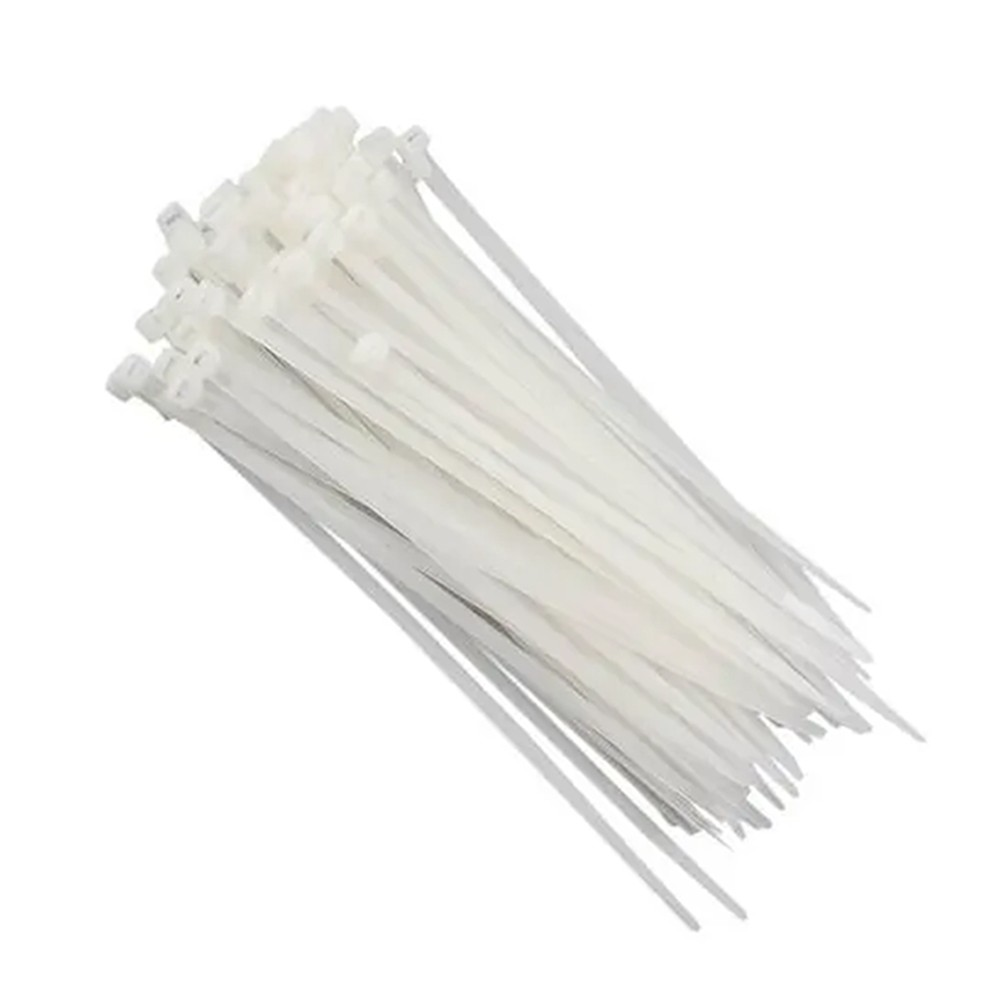 Abraçadeiras de Nylon 6,7X370MM Branco/Preto 100 Pçs MAK LED