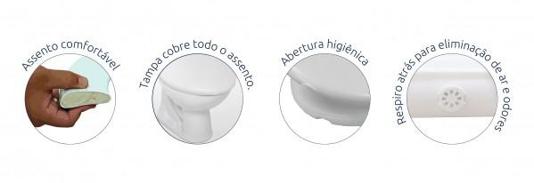 Assento Sanitário Almofadado Alumasa