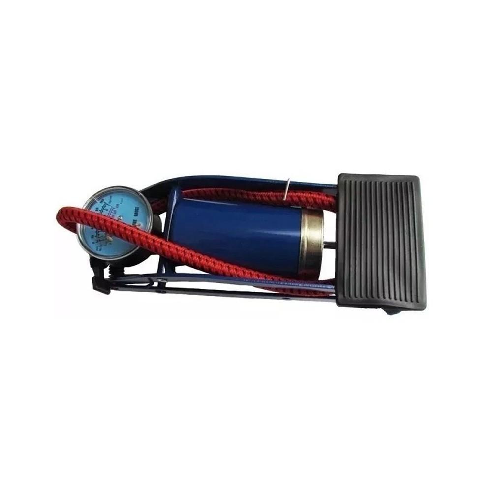 Bomba de Ar Pedal Manômetro 90° Alta Pressão 2WF Excellent