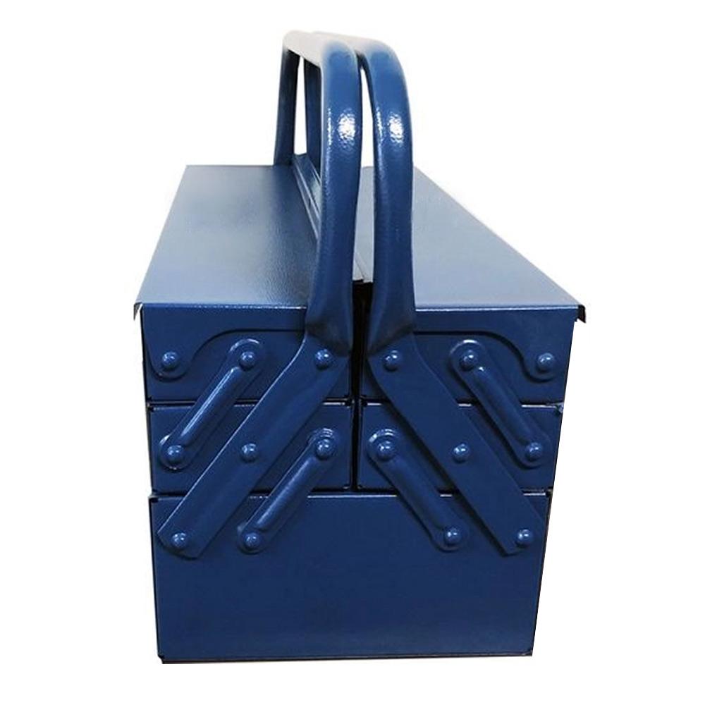 Caixa para Ferramentas de Aço Sanfonada c/5 Gavetas 50CM Eda