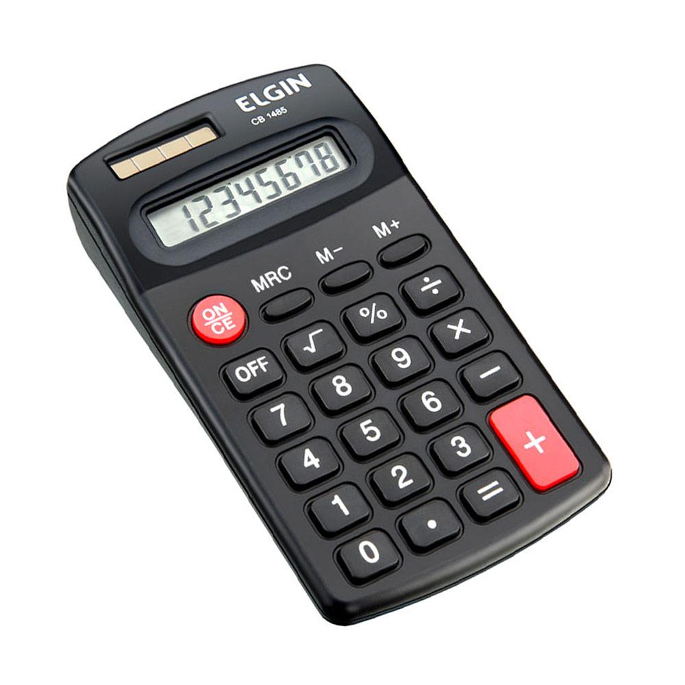 Calculadora de Bolso Eletrônica Preta 8 Dígitos CB1485 Elgin
