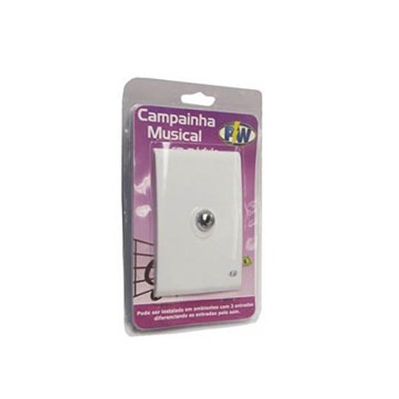 Campainha Musical Eletrônica 322 de Embutir PW