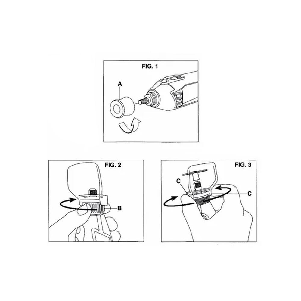 Capa de Proteção Para Micro Retifica Rosca 17MM 00070 Charbs