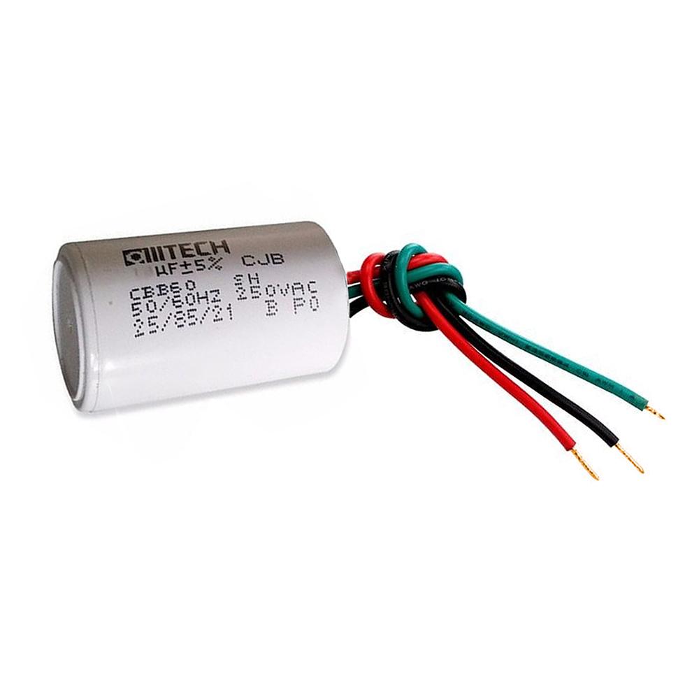 Capacitor 3 Fios Metalizados p/ Motor 1.5UF + 2UF250 VAC MVM