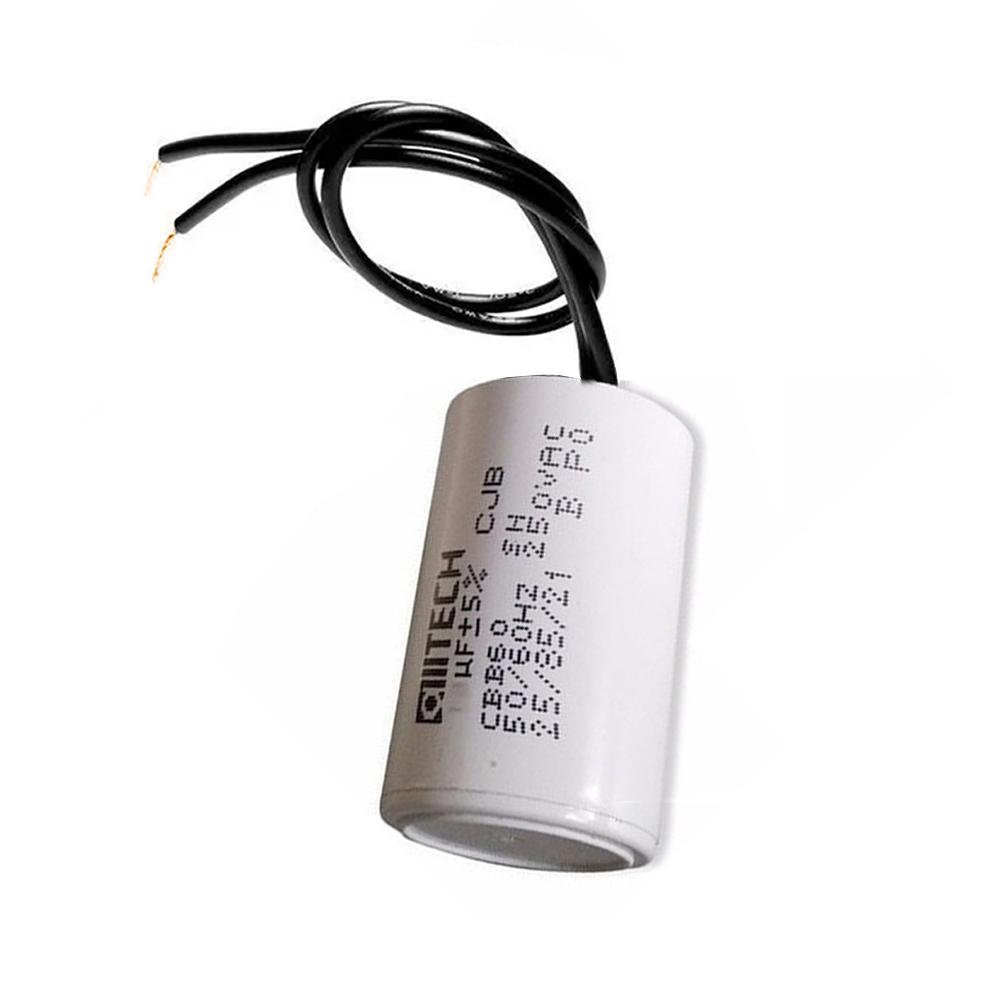 Capacitor com 2 Fios Metalizados para Motor 45UF 250 VAC MVM