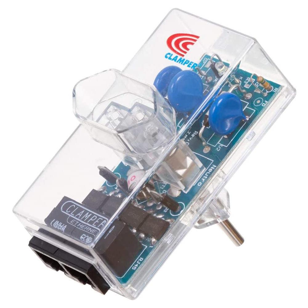 Clamper Energia + Ethernet Proteção Contra Raios e Surtos