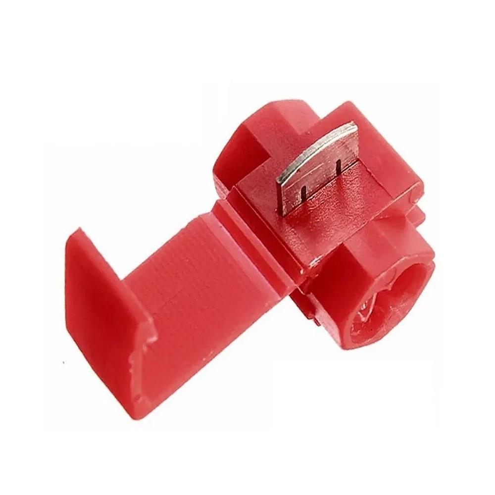 Conector de Derivação Vermelho 0,5 a 1,5mm² 50 Pçs Decorlux