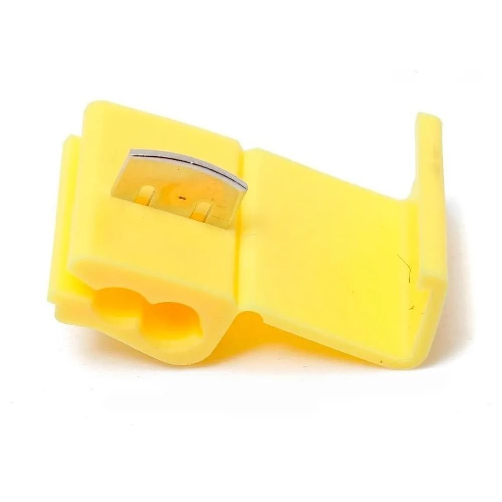 Conector Emenda Derivação Amarelo 4 a 6mm² 50 Pçs Decorlux