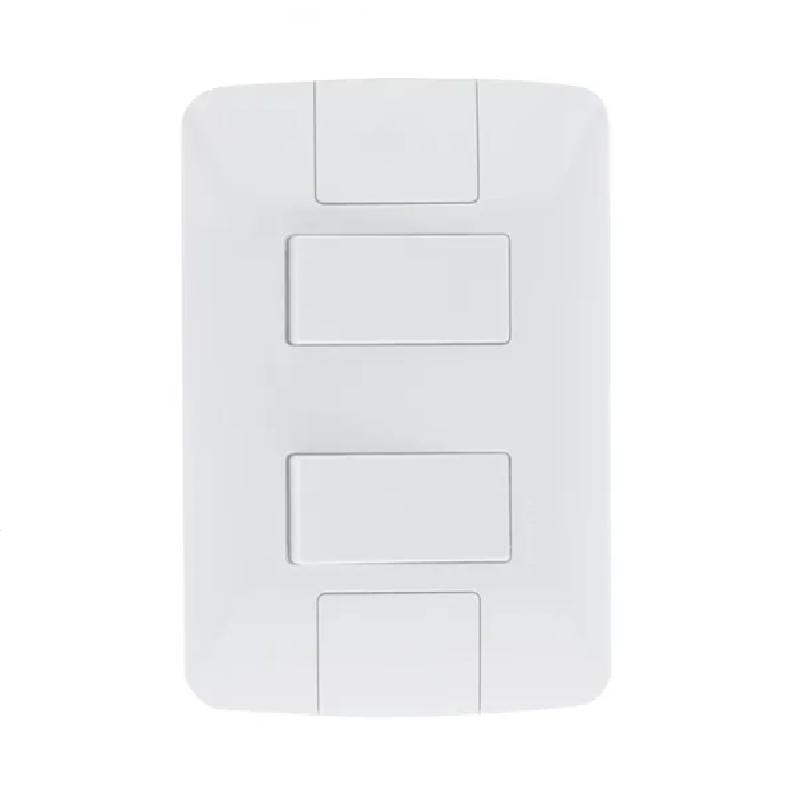 Conjunto 2 Interruptores 4x2 Simples Aria 57241040-Tramontina