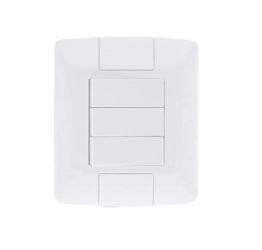 Conjunto 3 Interruptores 6A 4x2 57241070 - Tramontina