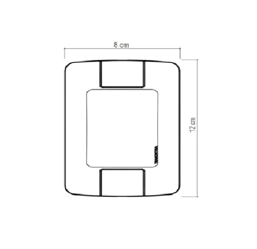 Conjunto 4x2 com 1 Tomada 2P+T 20A 250V Aria 57241010 Tramontina