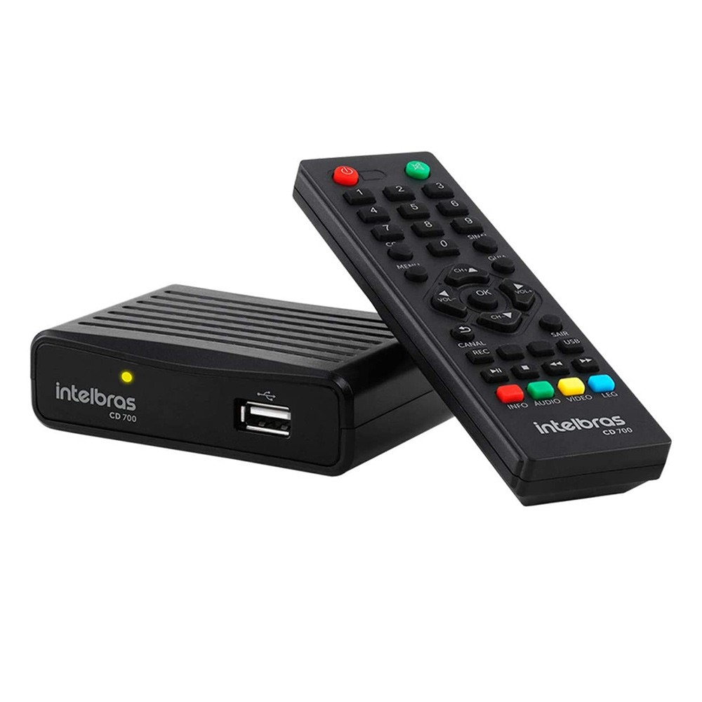 Conversor Digital de TV com Gravador 4G CD 700 Intelbras