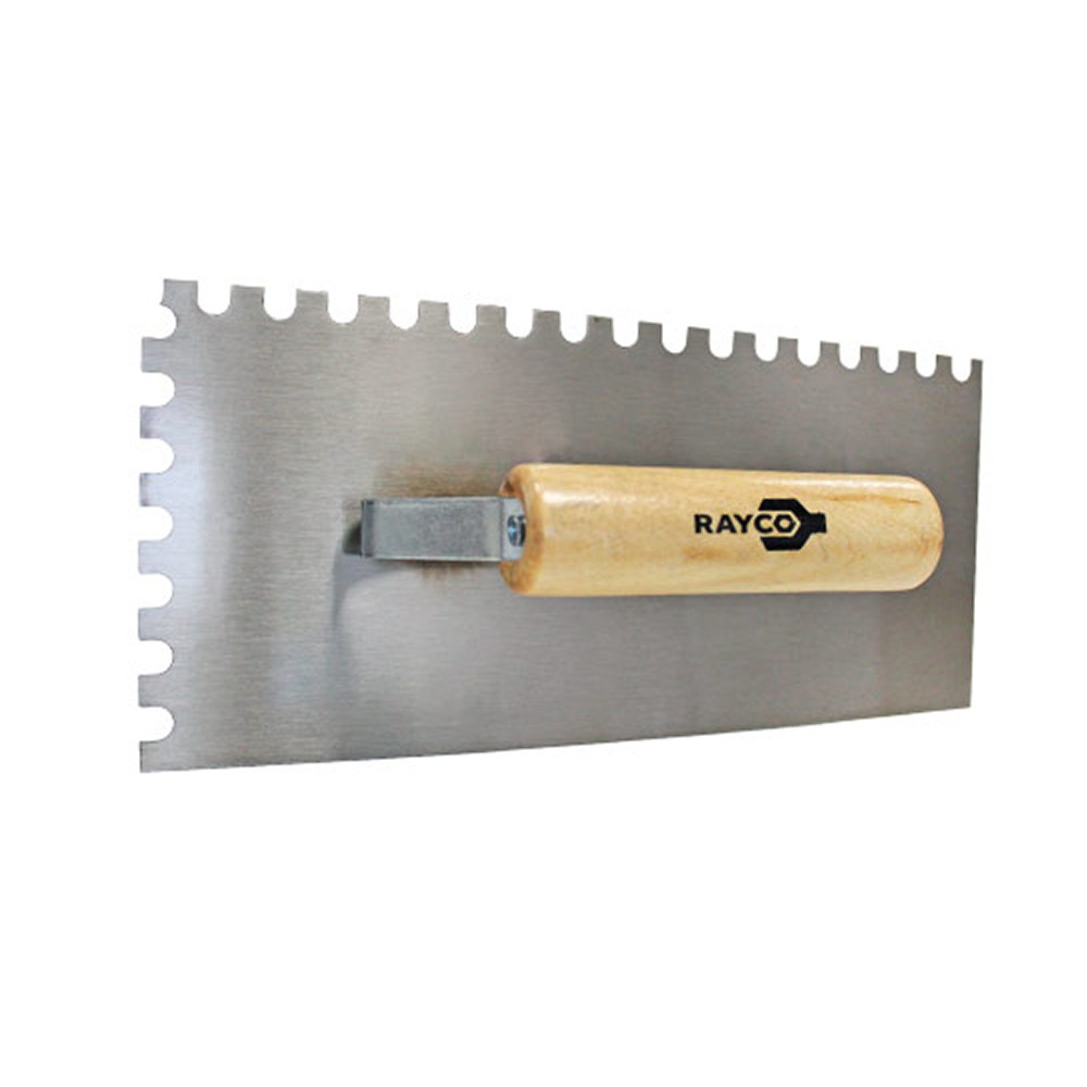 Desempenadeira de Aço Retangular Dentada 27X12CM 12333 Rayco