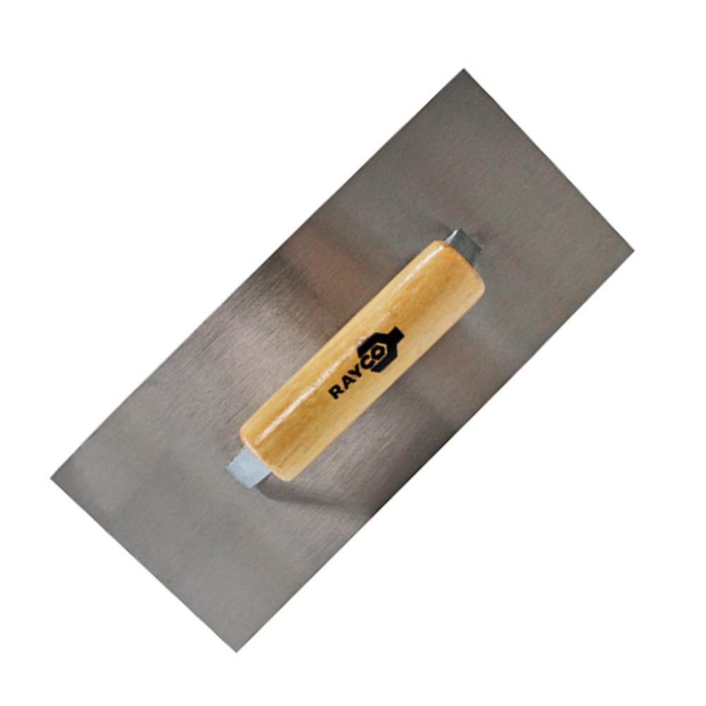 Desempenadeira de Aço Retangular Lisa 27 X 12cm 12332 Rayco