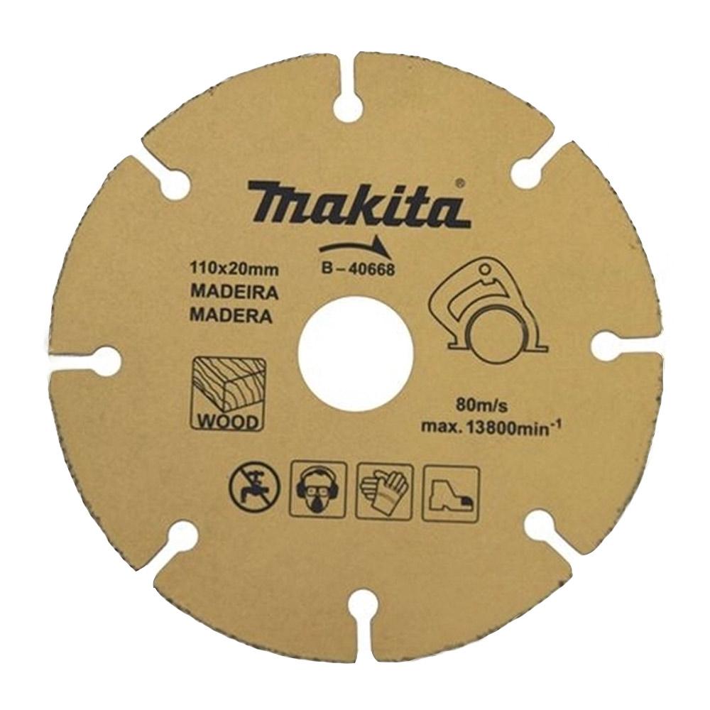 Disco de Corte Tungstênio p/ Madeira 110X20MM D40668 Makita