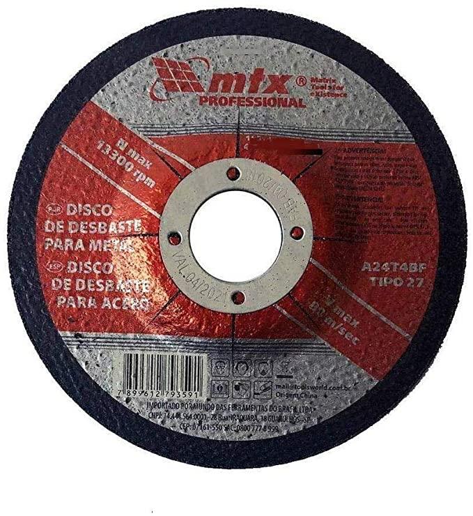 Disco de Desbaste 4.1/2 Polegadas (115MM) MTX 7376255
