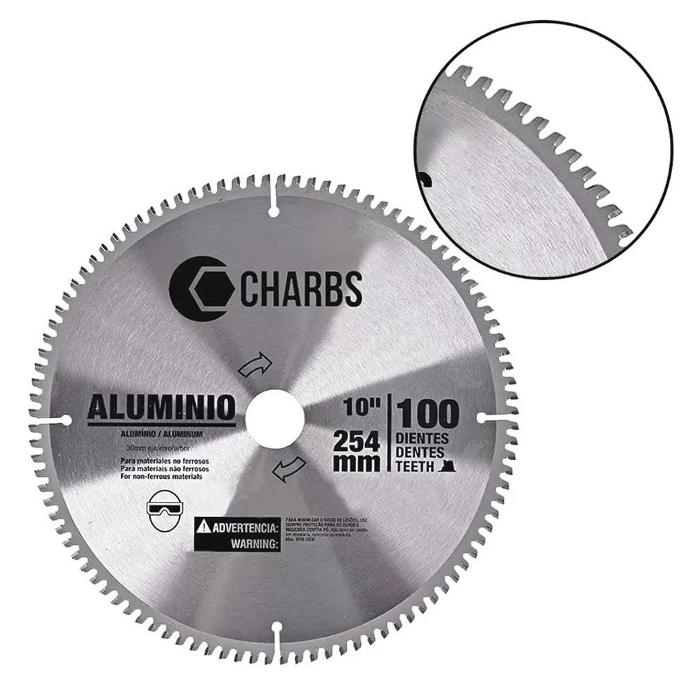 Disco de Widea para Alumínio 100 Dentes 254MM 10 Pol. CHARBS