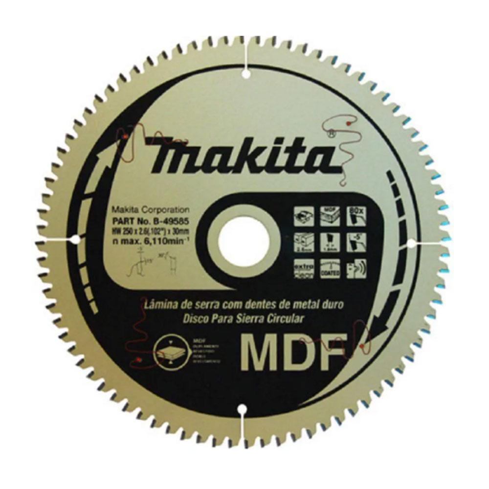 Disco de Wídea para MDF 96 Dentes 300MM X 30MM D51356 Makita