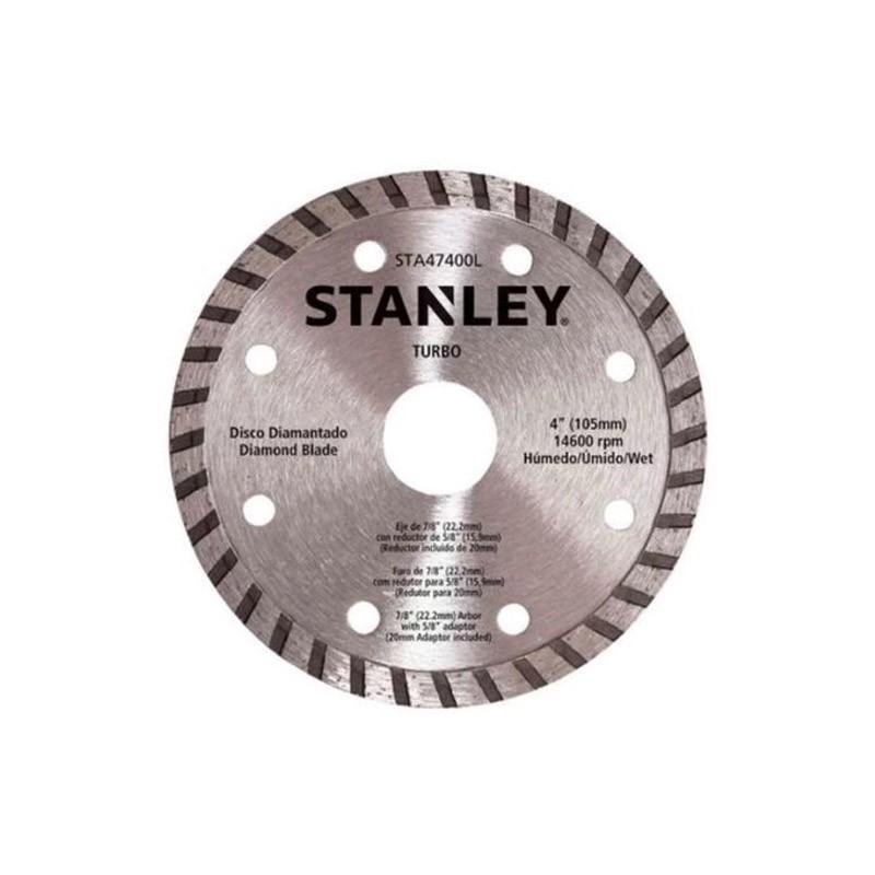 Disco Diamantado Turbo 4 - Serra Mármore Preto - Stanley