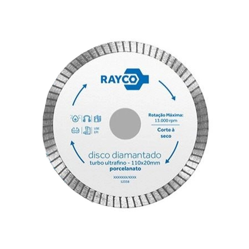 Disco Diamantado Turbo Ultrafino 110x20mm 12338 Rayco