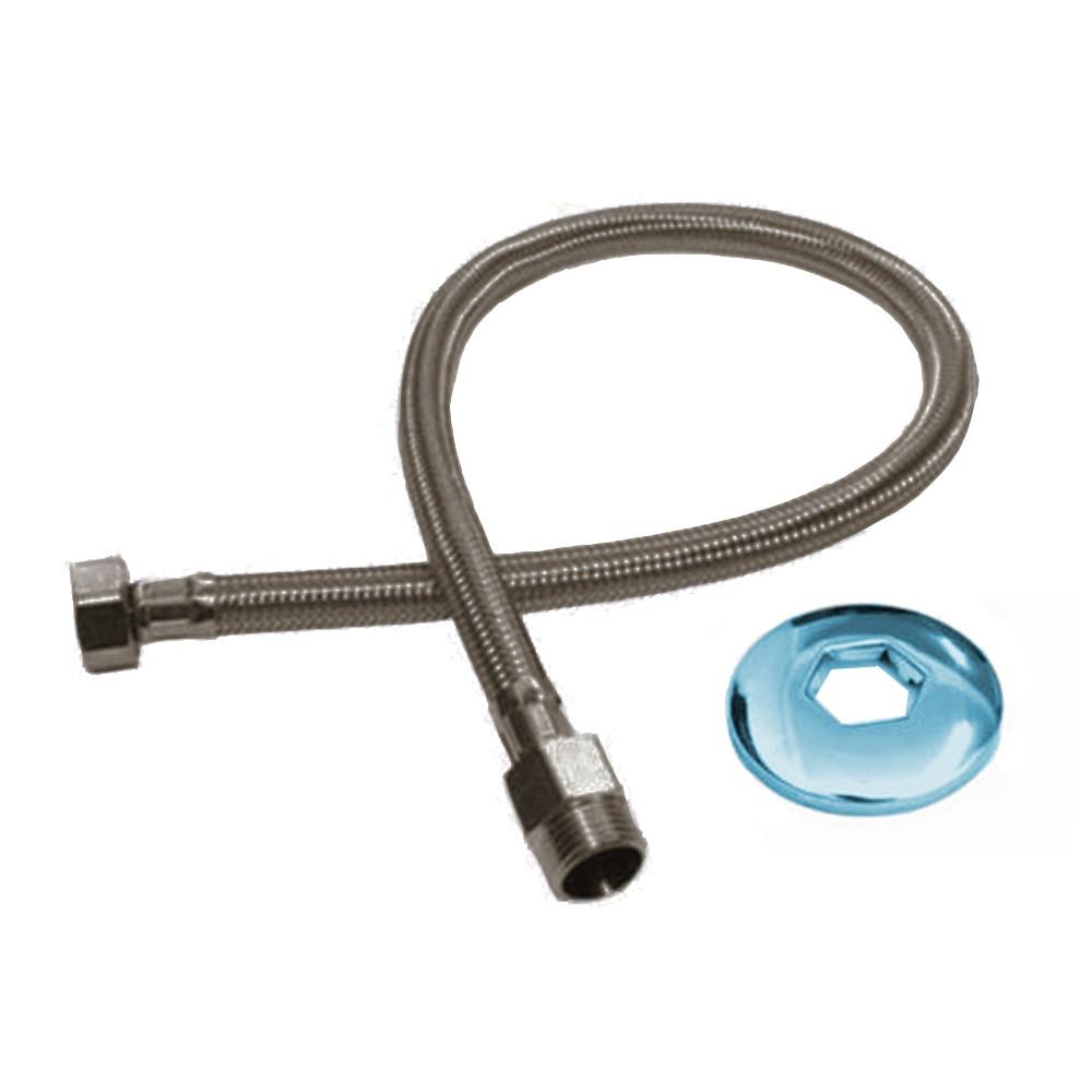 Engate Flexível para Pia Traçado Aço Inox c/40CM 13388 Rayco