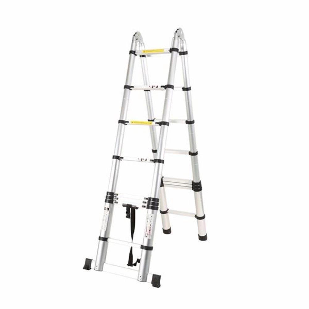 Escada Telescópica Multifuncional 12 Degraus Alumínio 3.8m