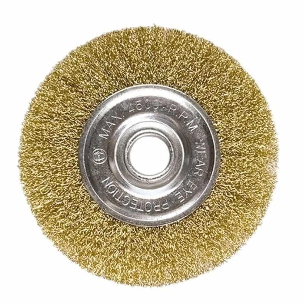 Escova Aço Carbono Ondulada Tipo Circular 175MM 746669 MTX
