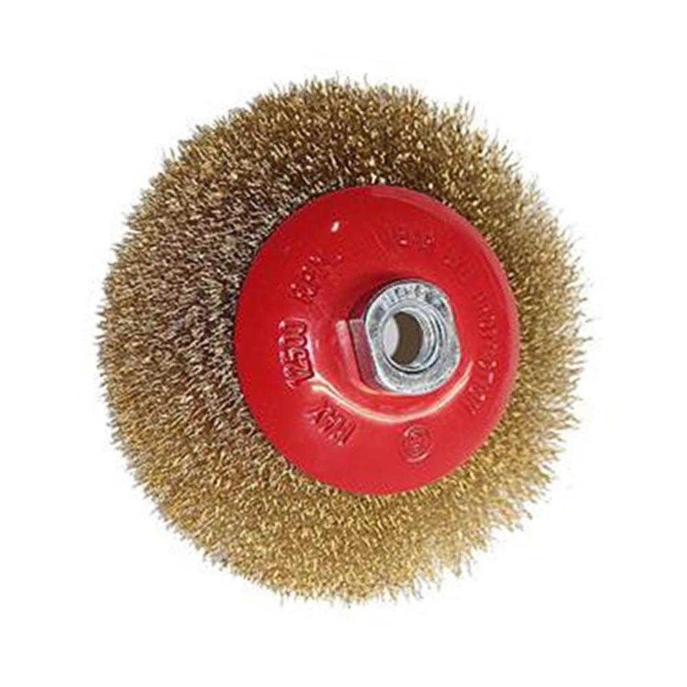 Escova Aço Carbono Tipo Circular Ondulada 125MM 746169 MTX