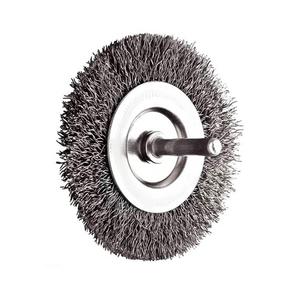 Escova Rotativa Circular Ondulada com Haste 63MM 14515 Rayco